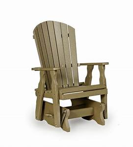 Amish Polywood Fan Back Glider Chair from DutchCrafters Amish