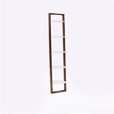 Narrow Ladder Bookcase by Ladder Bookshelf Narrow White Espresso West Elm