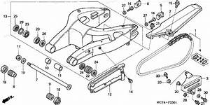 Honda Motorcycle 2004 Oem Parts Diagram For Swingarm   U0026 39 02