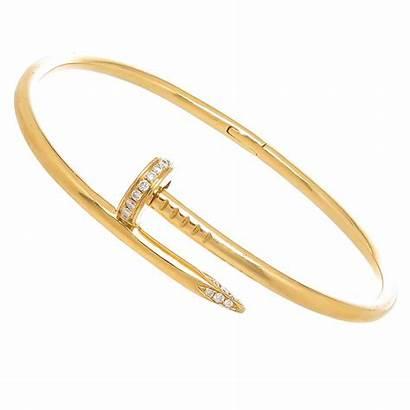 Cartier Nail Bracelet Gold Clou Un Juste