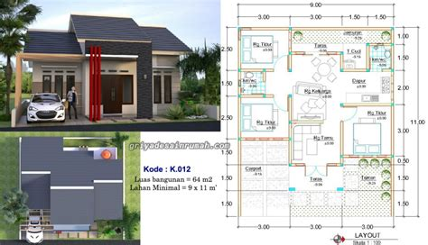 gambar desain rumah 1 lantai melebar contoh z