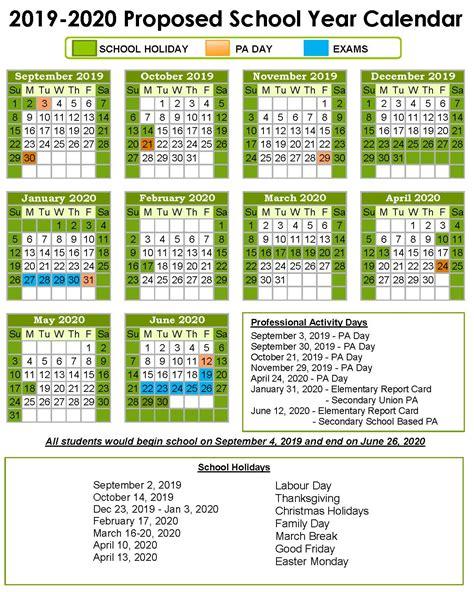 le calendrier propose pour lannee scolaire survey