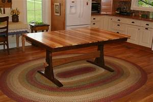 Buy, Handmade, Expanding, Farmhouse, Table, Trestle, Table, Table, With, Leaves, Solid, Wood, Walnut