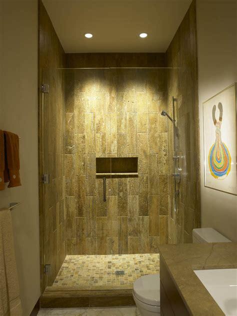 wonderful natural shower recessed lighting design ideas