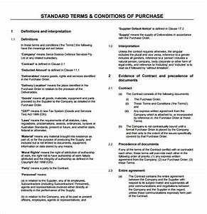 9 terms and conditions samples sample templates for Standard terms and conditions for services template