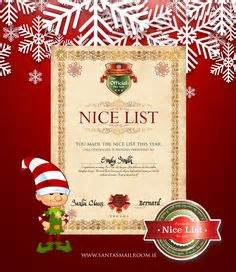 free printable santa letters Nice list certificate from