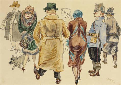 George Grosz (1893-1959) , Menschen (Promenade) | Christie's