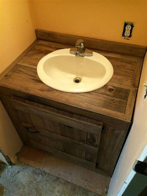 pallet wood sink cabinet bathroom ideas pallet
