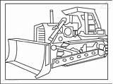Digger Coloring Bulldozer Colouring Kleurplaat Kleurplaten Voertuigen Happer Printable Template Construction 1001 Coloringpage Dozer Truck 1001coloringpages sketch template