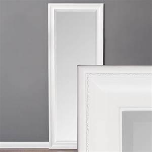 Spiegel Weiß Holzrahmen : spiegel copia 160x60cm pur wei wandspiegel barock holzrahmen und facette ebay ~ Indierocktalk.com Haus und Dekorationen