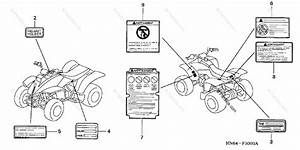Honda Atv 2002 Oem Parts Diagram For Labels   U0026 39 01