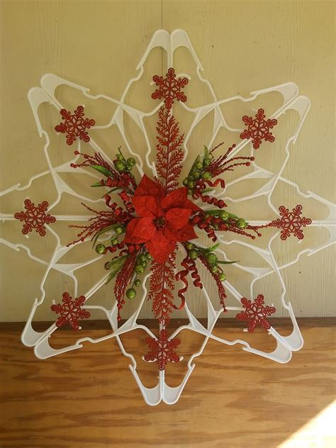 plastic hanger snowflake home design