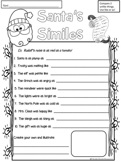 free simile practice for it grade