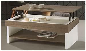 Table Basse Avec Plateau Relevable : table basse dinette plateau relevable avec rangement ~ Teatrodelosmanantiales.com Idées de Décoration