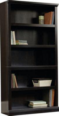 Sauder Black Bookcase by Sauder Select 5 Shelf Estate Black Bookcase Homemakers