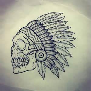 Indian Skull Tattoo Drawings
