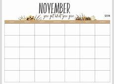 Monthly Blank Planner 2018 Calendar 2018
