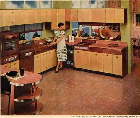 wood top for kitchen island steel kitchen cabinets history design and faq retro 1950