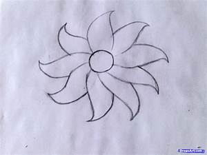 How to draw a flower - easy, Step by Step, Flowers For ...