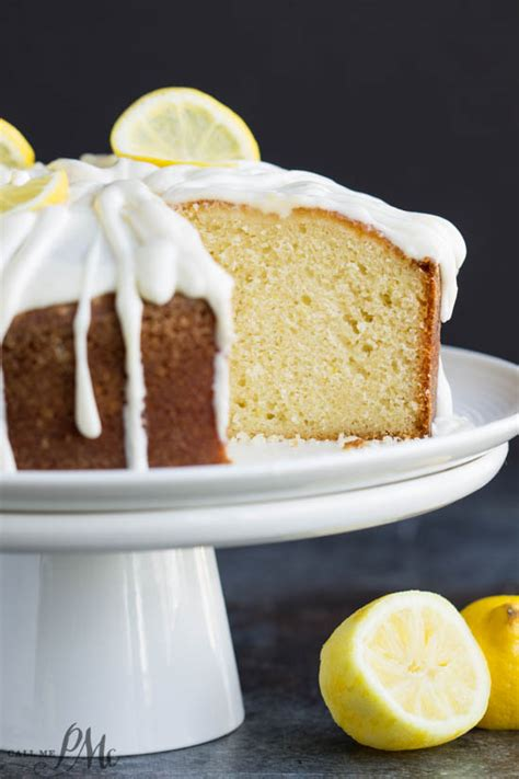 With an electric mixer, cream the sugar, oil, eggs and vanilla. Trisha Yearwoods Lemon Pound Cake with Glaze » Call Me PMc