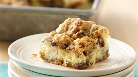 chocolate chip cheesecake bars recipe pillsburycom