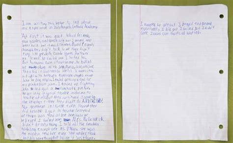 Lettere Di Suicidi by Sos Enfants Harc 232 Lement Scolaire De La D 233 Pression Au
