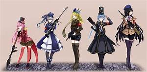 Anime, Anime, Girls, Gun, Weapon, Uniform, Original, Characters, Wallpapers, Hd, Desktop, And, Mobile