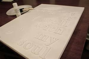 White letters on white canvas diy artwork tutorial for Letter canvas