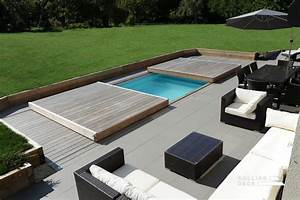 rolling deck la couverture terrasse mobile de piscine et With piscine integree dans terrasse