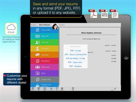 app shopper resume mobile pro design