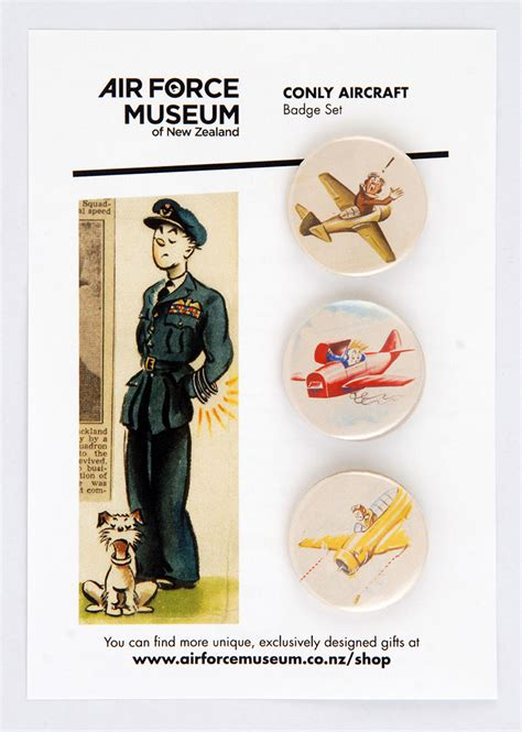conly aircraft badge set air force museum
