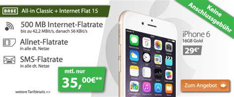 iphone  mit allnet flat schon fuer  euromonat