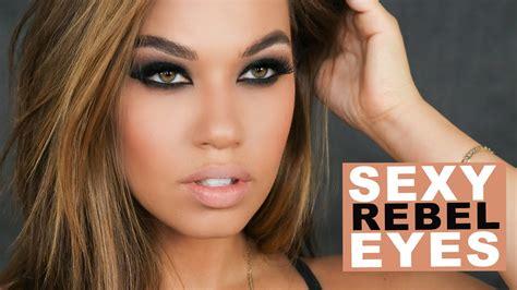 sexy rebel eyes makeup black brown smokey eye makeup