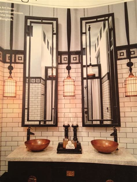 images  art deco bathrooms  pinterest art