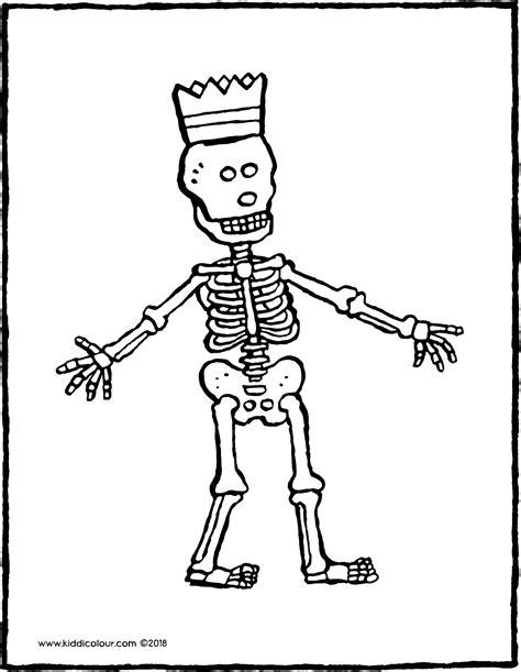 Kleurplaat Skelet Mens by Geraamte Kiddicolour