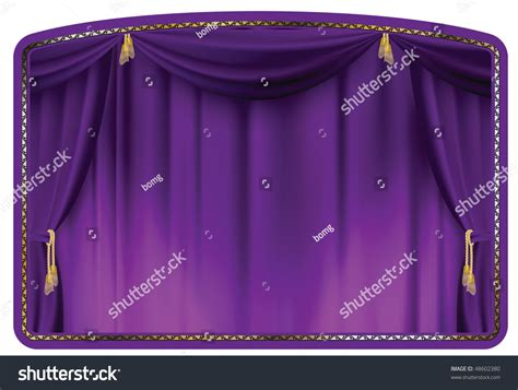 Theater Curtain Purple Tied With Gold Tassels Stock Vector Linen Shower Curtain Liner Curtains Burgundy Frog Set Outdoor Baby Decorations Bathroom Purple Fabric At Walmart Cottage