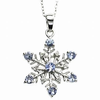 Tanzanite Earrings Lavender Coloured Pendant Gemstones Snowflake