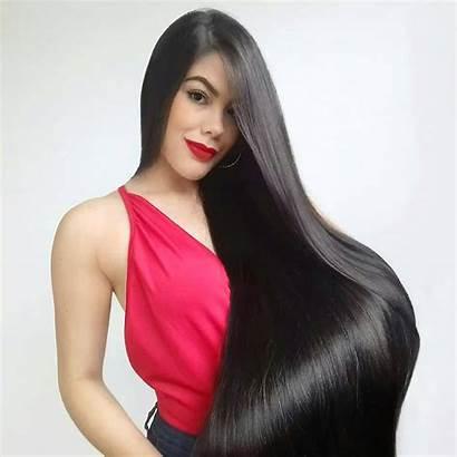 Hair Straight Evelyn Instagram Rapunzel Silky Amazing
