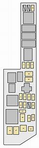 Toyota Sienna First Generation Mk1  Xl10  2001 - 2003  - Fuse Box Diagram