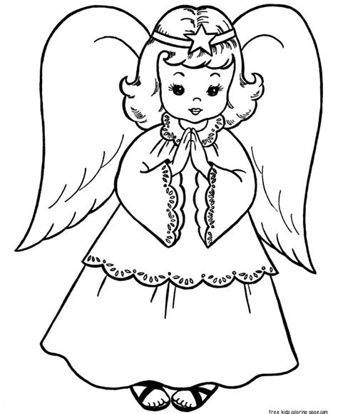 christmas angels coloring page print   kids  printable coloring pages  kidsfree