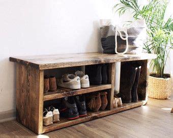 shoe rack bench  boot cubby  tone cloudburst