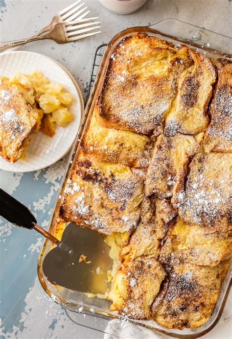Apple Pie Overnight French Toast Casserole The Cookie