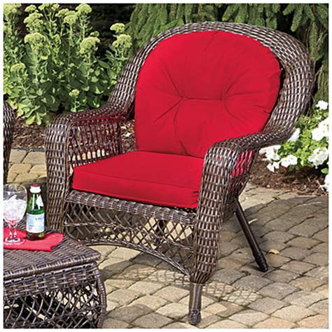 view wilson fisher 174 charleston resin wicker cushioned chair deals at big lots