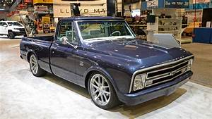 This  U0026 39 67 Chevy C10 Is A Blue And Silver Centennial