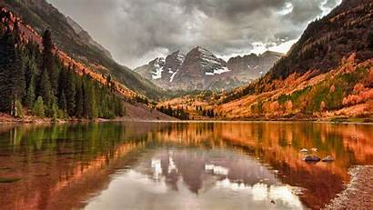 Mountain Fall Desktop Autumn Lake Wallpapers Backgrounds