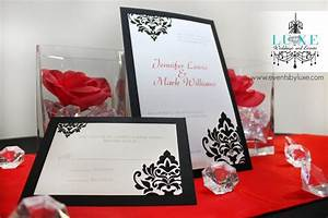 10 best red black and white wedding damask wedding images With rsvp wedding invitations london ontario