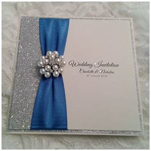 Wedding Invitations Royal Blue And Silver Uk ~ Yaseen for