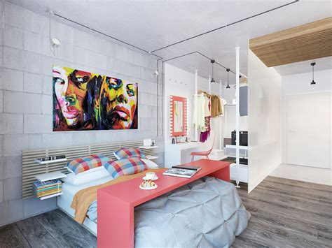 Two Cheerful Apartments With Creative Storage And Splashes Of Color by Two Cheerful Apartments With Creative Storage And Splashes