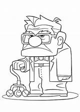 Carl Fredricksen Face Coloring Disney Annoyed Printable Simpsons Netart Movie Colouring Sheets Imagenes Bart Colorear Dibujar Simpson Silhouette Haut Aventura sketch template