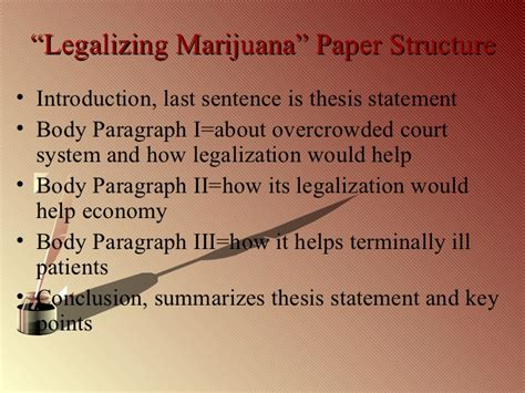 Thesis For Legalization by College Writing Cinderella